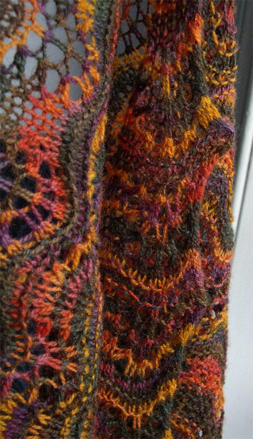 autumn sunset shawl