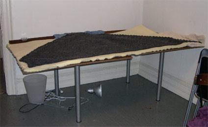 highland triangle shawl