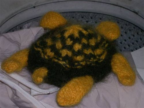 turtle half-felted